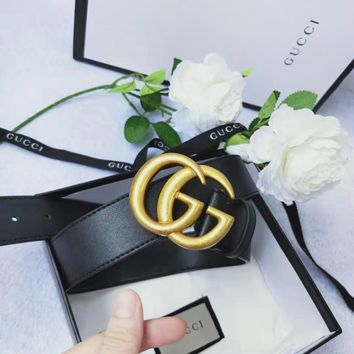 GUCCI Tide brand classic simple and simple smooth buckle belt