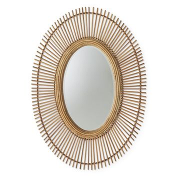 AERIN Wicker Wall Mirror