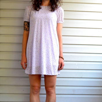 90s Grunge Pastel Daisy Dress