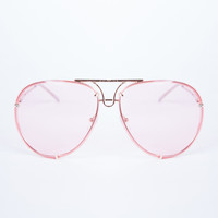 Oversized Transparent Aviator Glasses
