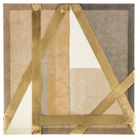 Beige, Brown & Gold Metal Panel Canvas Wall Art | Hobby Lobby