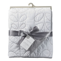 Living Textiles Cotton Poplin Quilted Comforter - White/Grey
