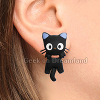 Jiji Clinging Earrings Kiki's Delivery Service Studio Ghibli
