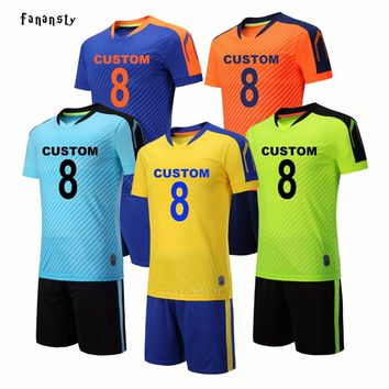 Soccer uniforms men college custom football jerseys soccer set breathable football outfit kits survetement football 2018 new