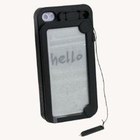 Black Funny Hard Case Cover With WordPad For Apple iPhone 4 4S