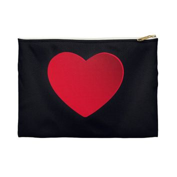 Heart Love MakeUp Accessory Pouch ValentineS Day Gifts- Gift for Girlfriend, Wife , Mom Make Up bag , Cosmetic Bag