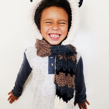 Fox Hat Hood Cowl Scarf Knit Toddler Child Adult // Finley the Fox Hood