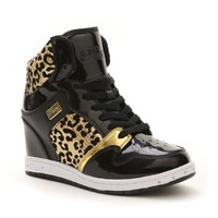 Glam Pie Wedge Sneaker Black/Gold