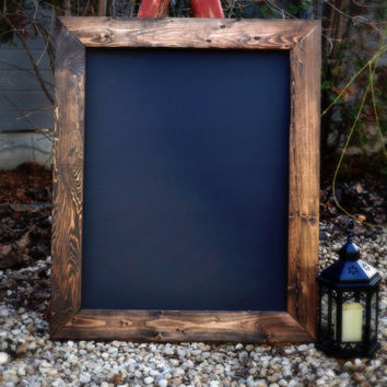 Ships in 3-5 Days! Rustic Framed Chalkboard 36x28