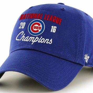 Men's Chicago Cubs 2016 National League Champions Adjustable Hat By 47 Brand