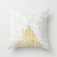 Trian Gold Throw Pillow by Simona Sacchi | Society6