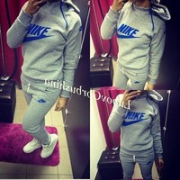 Nike Fashion Sport Gym Set Two-Piece Pants Coat Sportswear Hoodie-3
