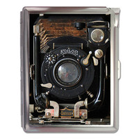 Antique Camera Retro Cigarette Case Lighter or Wallet Business Card Holder