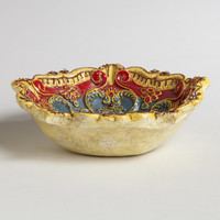 Floral Shaped Painted Tidbit Dish - World Market