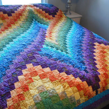 Twist Bargello Quilt Queen Size Customizable