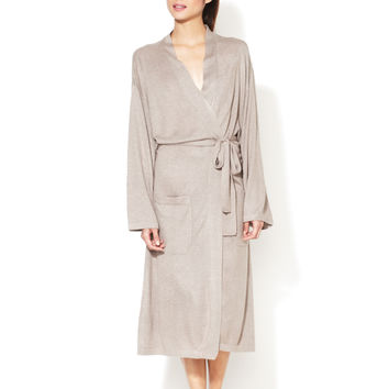 a & R Cashmere Cashmere & Wool Robe - Sand