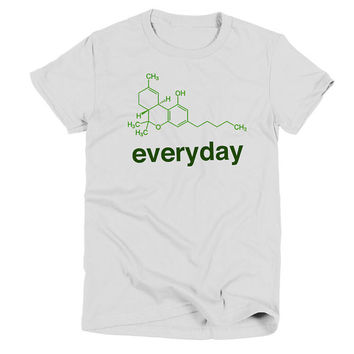 Weed Science THC Womens White T Shirt - Graphic Tee - Clothing - Gift