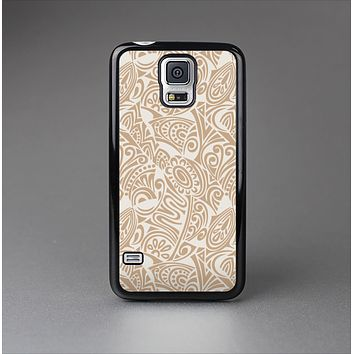 The Tan Abstract Vector Pattern Skin-Sert Case for the Samsung Galaxy S5