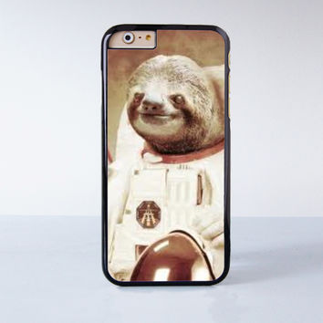 Sloth Astronaut Plastic Case Cover for Apple iPhone 6 6 Plus 4 4s 5 5s 5c