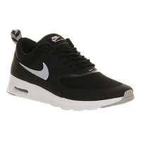 Nike Air Max Thea Black Wolf Grey White - Hers trainers
