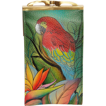 Anuschka Double Eyeglass Case - Dancing Peacock - eBags.com