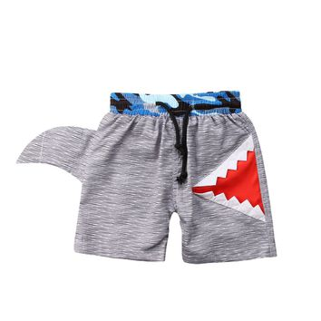 2018 new Kids Boy summer beach Swimwear short kids boys Shark outfits