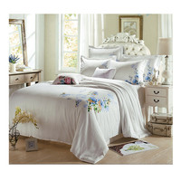 Silk ink and wash painting Duvet Quilt Cover Sets Bedding Cover set 1.5M/1.8M Bed 02 White