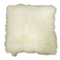 Walmart: Better Homes and Gardens Arctic Fur Decorative Pillow, Ivory