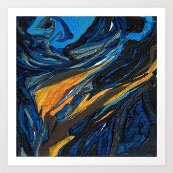 Blue Ocean Art Print by wtfineart