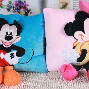 Mickey or Minnie Mouse Deluxe Plush Pillows