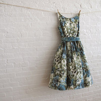 teal bloom tea dress ready to ship by sohomode on Etsy