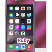 iPhone 6 Ruby Red GlassShield Luxury Screen Protection