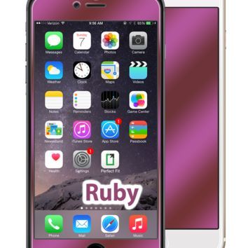 iPhone 6 Plus Ruby Red GlassShield Luxury Screen Protection