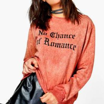 Tilly Tear Effect Slogan Sweatshirt