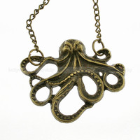 Antique octopus necklace- Retro necklace