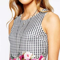 Minkpink Garden Bed Picnic Print Crop Top