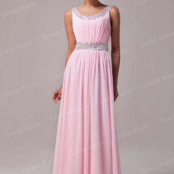 TOP Stock Long Formal Evening Gown Bridesmaid Prom Wedding Party Dress PLUS 2-16
