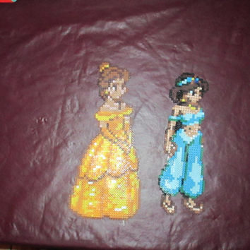 Large Disney Princess Perler Bead Art Magnets or Wall Decor