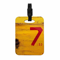 """Steve Dix """"7S3"""" Yellow Painting Decorative Luggage Tag"""