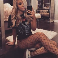 Dear Deer Fashion Black Fishnet Stockings