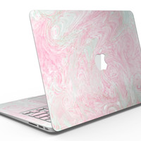 Pink and Teal Slate Marble Surface - MacBook Air Skin Kit