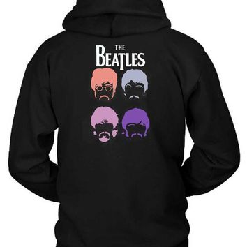 LMF1GW The Beatles Cartoon Second Hoodie Two Sided