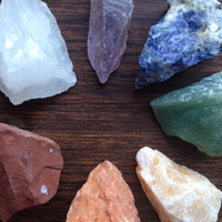 Large Raw Crystal Chakra Set Raw Stones Healing Crystals and Stones Meditation Stones Chakra Crystals Yoga Crystal Healing Alter Tool