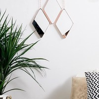 Umbra pack of 3 rose gold diamond mirrors at asos.com
