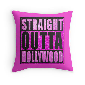Straight Outta Hollywood Pink Glitter by straightoutta