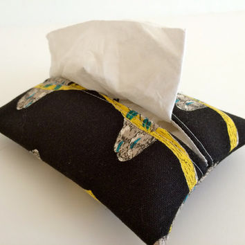 Travel Tissue Holder Kleenex Pouch in Owl