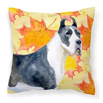 Harlequin Great Dane Fall Fabric Decorative Pillow BB9904PW1818