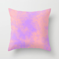 Cotton Candy Clouds - Pink & Purple Throw Pillow by Moonshine Paradise