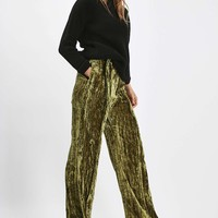 Velvet Wide Leg Trousers - Trousers & Leggings - Clothing