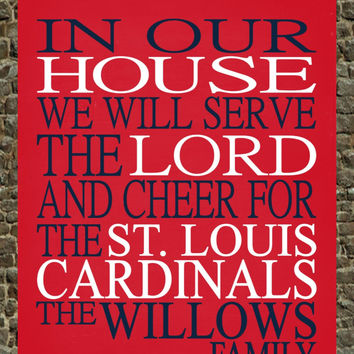Customized Name St. Louis Cardinals MLB Baseball personalized family print poster Christian gift sports wall art - multiple sizes